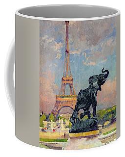 The Eiffel Tower And The Elephant By Fremiet Coffee Mug