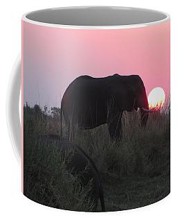 The Elephant And The Sun Coffee Mug
