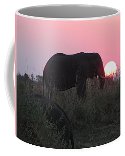 The Elephant And The Sun Coffee Mug