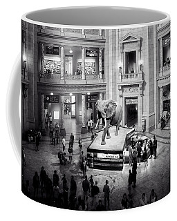 The Elephant In The Room In Black And White Coffee Mug