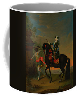 Coffee Mug featuring the painting The Empress Elizabeth Of Russia by Georg Grooth
