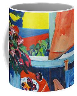 The Empty Blue Canvas Chair Coffee Mug
