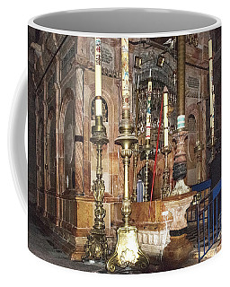 Coffee Mug featuring the photograph The Empty Tomb Of Christ by Mae Wertz