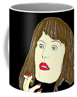 Coffee Mug featuring the drawing The End Of A Long Day by W And F Kreations