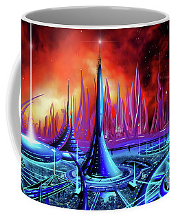 Coffee Mug featuring the painting The Enneanoveum by James Christopher Hill