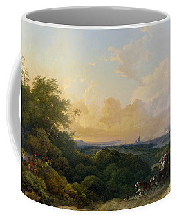 The Evening Coach, London In The Distance Coffee Mug