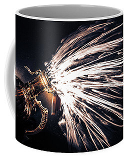 Coffee Mug featuring the photograph The Exploding Growler by David Sutton