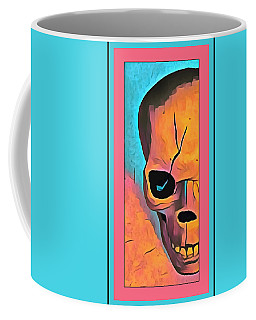 Coffee Mug featuring the digital art The Eye Of Death Abstract Skull by Floyd Snyder