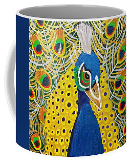 The Eye Of The Peacock Coffee Mug by Margaret Harmon