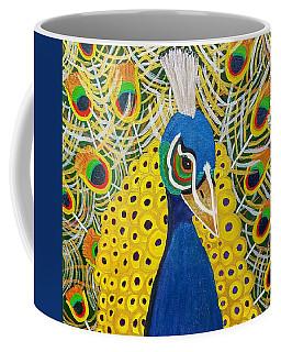 The Eye Of The Peacock Coffee Mug by Margaret Harmon