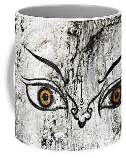 The Eyes Of Guru Rimpoche  Coffee Mug