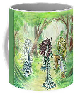 The Fae - Sylvan Creatures Of The Forest Coffee Mug by Shawn Dall