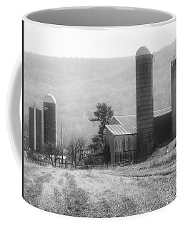 Coffee Mug featuring the photograph The Farm-after Harvest by Robin Regan