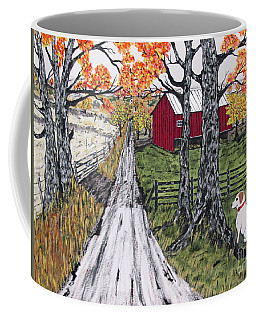 Sadie The Farm Dog Coffee Mug by Jeffrey Koss