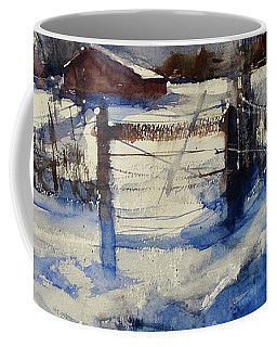 Coffee Mug featuring the painting The Farm On Barry by Sandra Strohschein