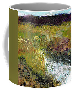 Coffee Mug featuring the painting The Farmers Ditch Fall by Frances Marino