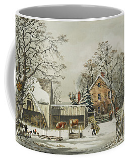 The Farmers Home  Winter, 1863 Coffee Mug