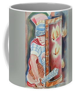 Coffee Mug featuring the painting The Fiery Darts Of The Evil One 2 by Kip DeVore