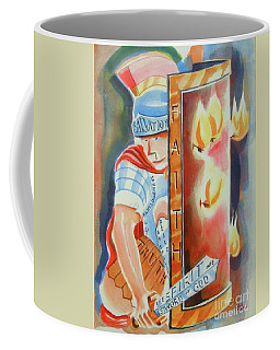 Coffee Mug featuring the painting The Fiery Darts Of The Evil One 3 by Kip DeVore