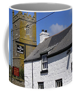 Coffee Mug featuring the photograph The First And Last Inn In England by Terri Waters