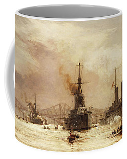 The First Battle Squadron Leaving The Forth For The Battle Of Jutland Coffee Mug