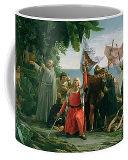 The First Landing Of Christopher Columbus Coffee Mug