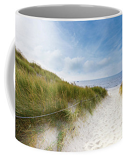 Coffee Mug featuring the photograph The First Look At The Sea by Hannes Cmarits