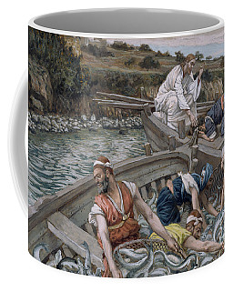 The First Miraculous Draught Of Fish Coffee Mug