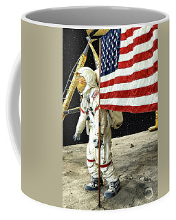 The First Moon Landing A Recreation Coffee Mug
