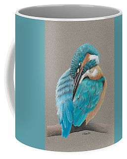 Coffee Mug featuring the drawing The Fisherking by Gary Stamp