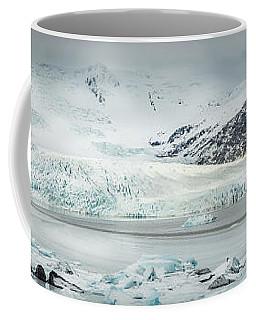 The Fjallajokull Glacier And Ice Lagoon. Coffee Mug