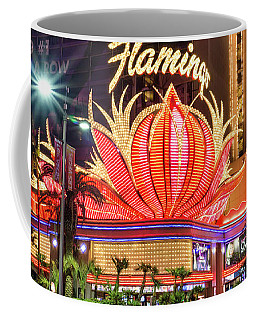 The Flamingo Neon Sign At Dawn Coffee Mug