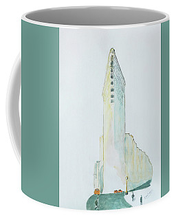 The Flat Iron Building Coffee Mug by Keshava Shukla
