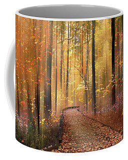 Coffee Mug featuring the photograph The Flickering Forest by Jessica Jenney