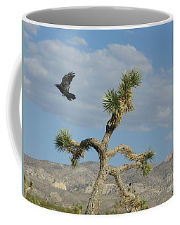 Coffee Mug featuring the photograph The Flight Of Raven. Lucerne Valley. by Ausra Huntington nee Paulauskaite