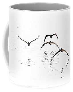 The Flight Of The Pelicans  Coffee Mug