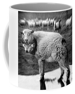 The Flock Is Safe Grayscale Coffee Mug