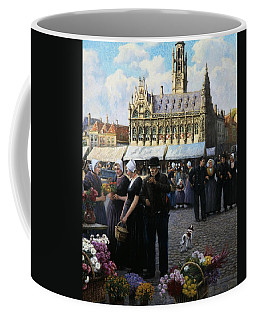 The Flower Market In Middelburg Coffee Mug