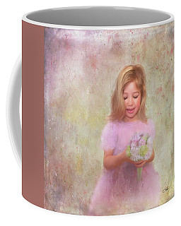 Coffee Mug featuring the mixed media The Flower Princess by Colleen Taylor