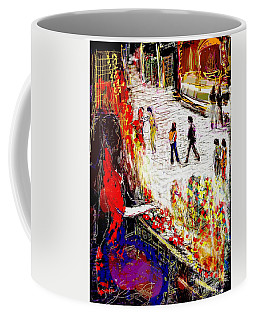 The Flower Vendor In Front Of The Temple Gate Coffee Mug