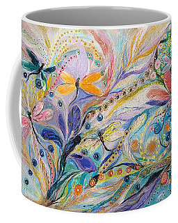 The Flowers And Dragonflies Coffee Mug