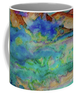 Coffee Mug featuring the painting The Fog Rolls In by Kim Nelson