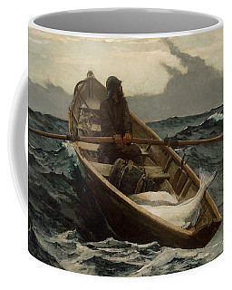 Coffee Mug featuring the painting The Fog Warning  by Winslow Homer
