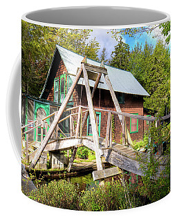 Coffee Mug featuring the photograph The Footbridge At Palmer Point by David Patterson