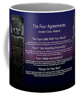 The Four Agreements Poster Coffee Mug