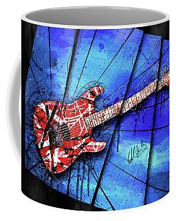 The Frankenstrat On Blue I Coffee Mug