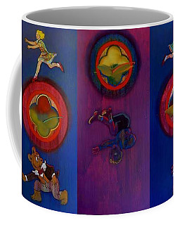 Coffee Mug featuring the painting The Fruit Machine Stops II by Charles Stuart