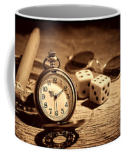 The Gambler's Watch Coffee Mug by American West Legend By Olivier Le Queinec