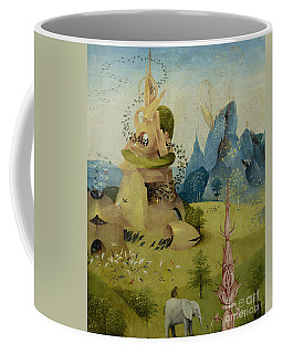 The Garden Of Earthly Delights, Detail Of Left Panel Showing Paradise Coffee Mug