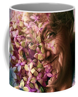 The Gardener Coffee Mug by Jean OKeeffe Macro Abundance Art